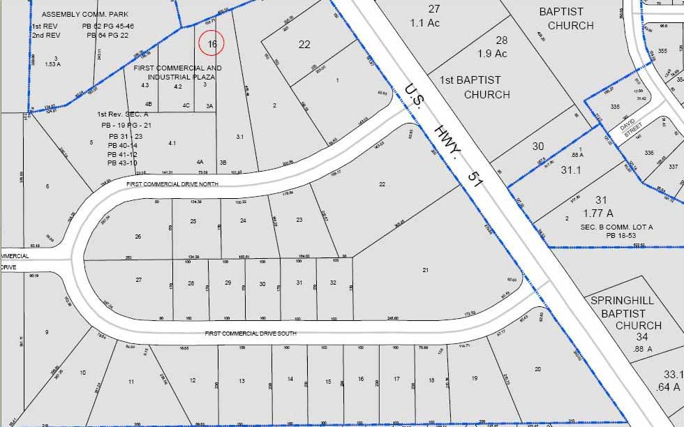 southaven mercial and industrial subdivision parcel maps
